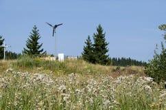 Generator för elektrisk vind i guld- broar Royaltyfria Bilder
