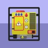 Generator flat icon. Generator flat illustration Royalty Free Stock Image