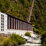 Generator house of hydro-electric power plant Stock Photo
