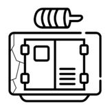 Generator icon vector stock illustration