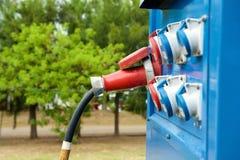 Generator outdoors z czopuje wewnątrz ujścia Obrazy Stock