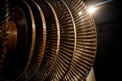 Generator rotor blades Royalty Free Stock Photos