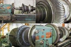 Generator rotor blades Royalty Free Stock Photos