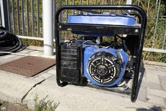Generator set. On the site work Royalty Free Stock Photos