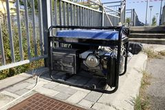 Generator set. On the site work Stock Photos