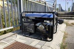 Generator set. On the site work Stock Photos