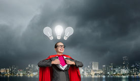 She is generator of super ideas Stock Photo