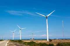 Generator, wind turbine Stock Images