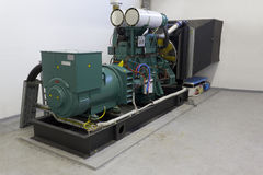Generatore del diesel di emergenza Fotografia Stock