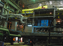 Generatore di energia elettrica, scena di notte Fotografia Stock Libera da Diritti