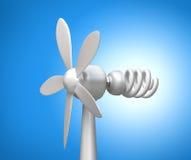 Generatore di vento e lampada moderna Fotografie Stock Libere da Diritti