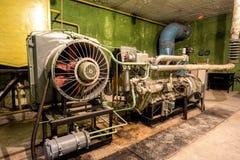 Generatore diesel nel rifugio antiaereo Immagine Stock Libera da Diritti
