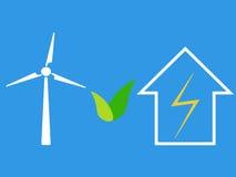 Generatore eolico come fonte di energia di eco Fotografie Stock Libere da Diritti