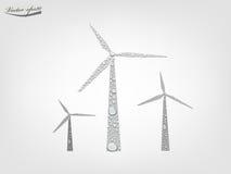 Generatore eolico dal vettore trasparente della goccia di acqua Immagini Stock Libere da Diritti
