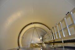 Generatore eolico dentro il tubo fotografie stock libere da diritti
