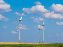 Generatore eolico in Palanga Fotografia Stock Libera da Diritti