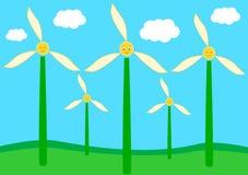 Generatore eolico sveglio e divertente dei fiori Immagini Stock Libere da Diritti