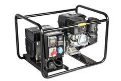 Generatore portatile della benzina Fondo bianco isolato Fotografie Stock Libere da Diritti