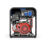 Generatore portatile isolato su un fondo bianco illustrazione di stock