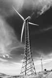 Generatorelektrizität zum Wind Stockfotografie