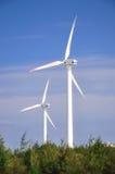 generatorer driver wind två Arkivbild