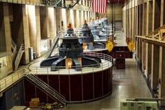 Generatorer för makt för dammsugarefördämning Arkivfoto