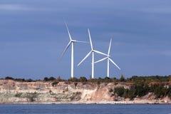 Generatori di elettricità del vento Immagine Stock