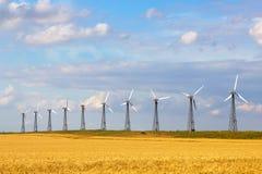 Generatori di energia eolica Immagini Stock