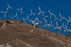 Generatori di potenza del mulino a vento Fotografie Stock
