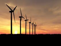 Generatori di vento Fotografie Stock Libere da Diritti
