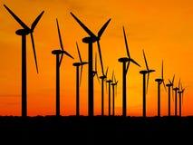 Generatori di vento Fotografia Stock