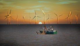 Generatori eolici Fotografia Stock