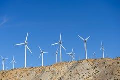 Generatori eolici in California del sud fotografia stock