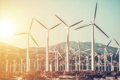 Generatori eolici di California Immagini Stock Libere da Diritti