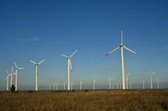 Generatori eolici in Europa Orientale Immagini Stock Libere da Diritti