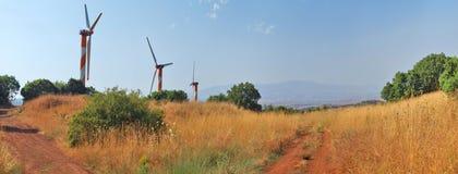 Generatori eolici in Golan Heights Israel Fotografia Stock Libera da Diritti