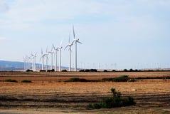 Generatori eolici, La Frontera di Vejer de Fotografie Stock