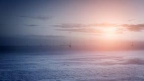 Generatori eolici sul mare Fotografia Stock Libera da Diritti
