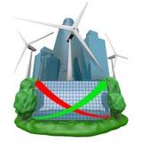 generatorturbinwind vektor illustrationer