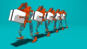 Generatywna automatyzacja - 3D ilustracja zdjęcie stock