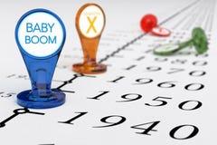 Generazione del baby-boom Fotografia Stock Libera da Diritti