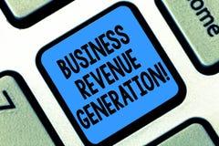 Generazione del reddito di affari di rappresentazione del segno del testo Mercati e vendite concettuali della foto un prodotto pe fotografie stock libere da diritti