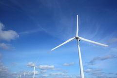 Generazione di energia eolica fotografie stock