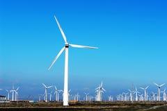 Generazione di energia eolica Fotografia Stock Libera da Diritti