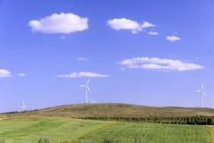 Generazione di energia eolica Fotografie Stock Libere da Diritti