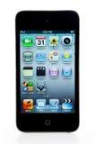 Generazione di tocco del Apple IPod quarta Immagini Stock Libere da Diritti
