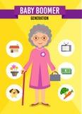 Generazione - personaggio dei cartoni animati Fotografia Stock Libera da Diritti