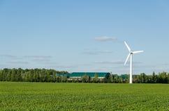 Generazione rinnovabile di energia di elettricità del mulino a vento Fotografia Stock