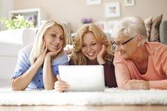 Generazione tre di donne Immagini Stock