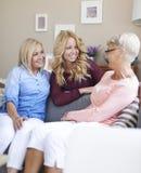 Generazione tre di donne Immagine Stock
